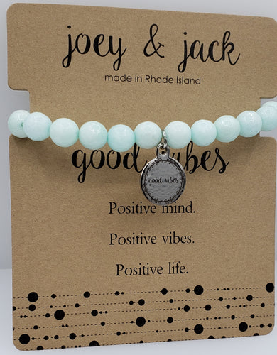 Mint Jade Good Vibes Bracelet
