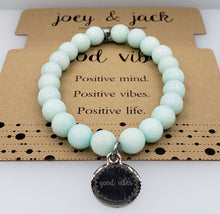 Load image into Gallery viewer, Mint Jade Good Vibes Bracelet