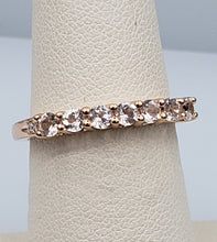 Load image into Gallery viewer, 10K Rose Gold Morganite Band with 2 Diamonds
