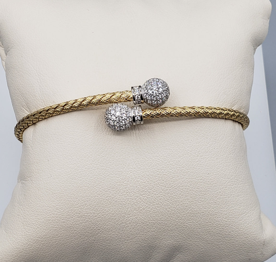 Criss Cross Bangle with CZ
