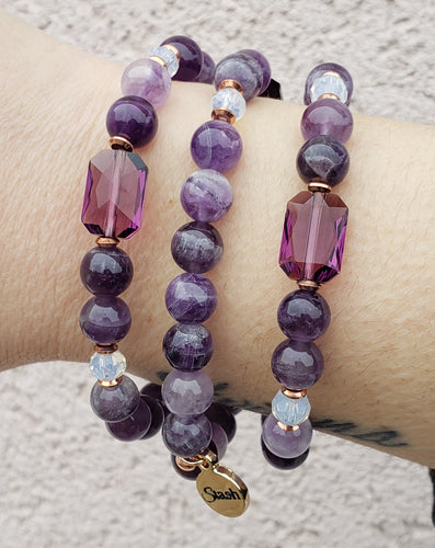 Marie's Jewelry & Stash Exclusive Amethyst with Rose Gold