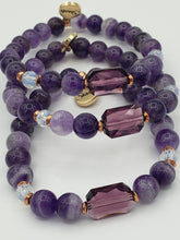 Load image into Gallery viewer, Marie's Jewelry & Stash Exclusive Amethyst with Rose Gold