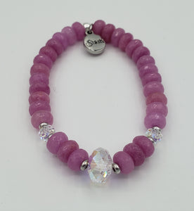 Stash The Erin - Swarovski Crystal and Pink Jade Bracelet *Limited Edition