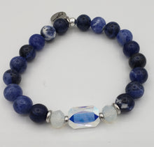 Load image into Gallery viewer, Stash The Adrian - Swarovski Crystal and Sodalite Bracelet