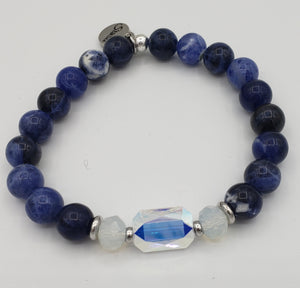 Stash The Adrian - Swarovski Crystal and Sodalite Bracelet