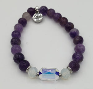 Stash The Adrian - Swarovski Crystal and Amethyst Bracelet