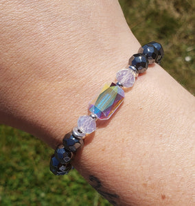 Stash Adrian with Swarovski Crystal and Hematite Bracelet