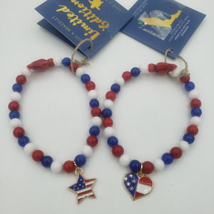 Limited Edition Red, White and Blue Sea Turtle Bracelet