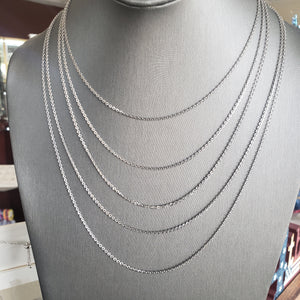 Sterling Silver Italian Cable Chain