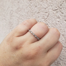 Load image into Gallery viewer, 10K White Gold Infinity Design Diamond Band