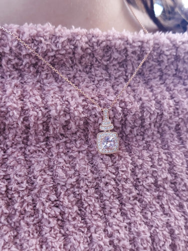 14K Rose Gold & Morganite Necklace