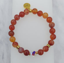 Load image into Gallery viewer, Stash Stella Swarovski Crystal & Fire Ruby Agate Bracelet