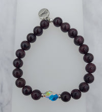 Load image into Gallery viewer, Stash Bethany with Swarovski Crystal & Garnet Bracelet