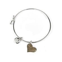 Load image into Gallery viewer, Dune Heart Beach Bangle Bracelet