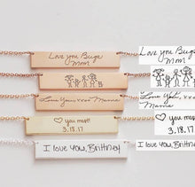 Load image into Gallery viewer, Horizontal Bar Necklace - Custom Handwriting