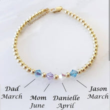 Load image into Gallery viewer, Custom Swarovski Crystal Birthstone Bracelet