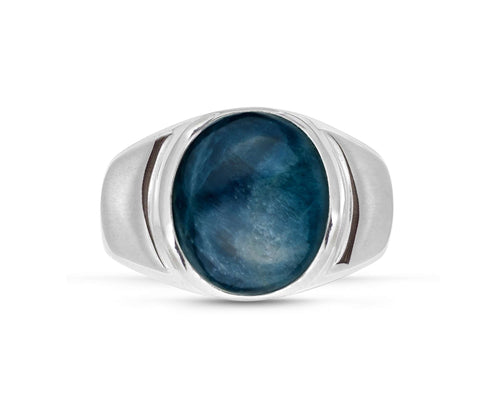 Dark Blue Apatite Stone Ring