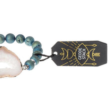 Load image into Gallery viewer, Geode Stack Bracelet: neptune/ice/silver