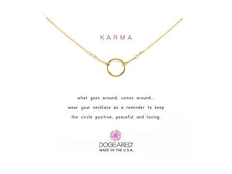 Dogeared Karma Necklace Gold Dipped
