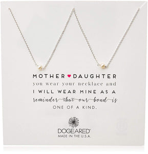Dogeared Mother & Daughter Small Pearl Necklaces