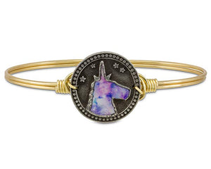 Tie Dye Unicorn Bangle Bracelet
