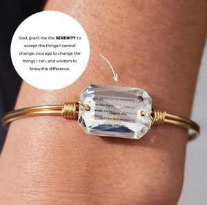 Serenity Prayer Bangle Bracelet