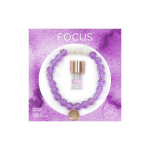 Lotus Boxed Diffuser Bracelet and Essential Oil Set