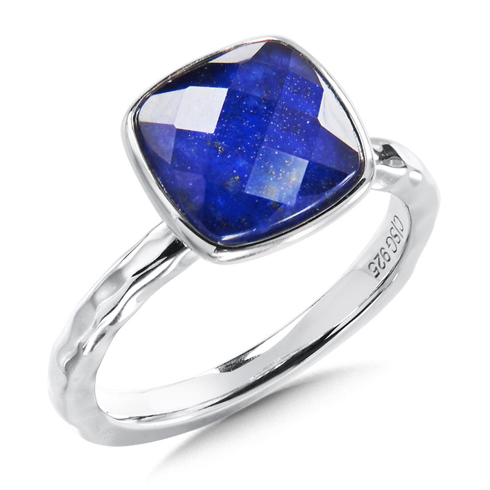 Sterling Silver Lapis Fusion Ring