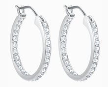 Load image into Gallery viewer, SOMMERSET EARRINGS, WHITE, RHODIUM PLATED