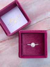 Load image into Gallery viewer, 14K White Gold .54 Carat Diamond Engagement Ring with Diamond Halo