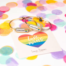 Load image into Gallery viewer, Love is Love Bangle Bracelet