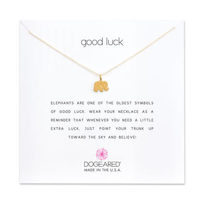 Dogeared Good Luck Necklace, gold dipped