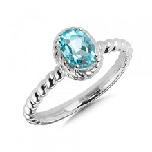 Load image into Gallery viewer, Colore SG Birthstone Collection Ring in Sterling Silver