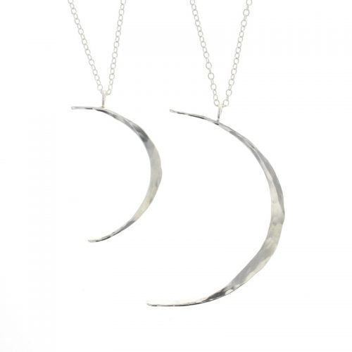 Lotus Celeste Moon Necklace (Large)