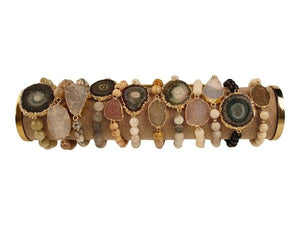 Love Poppy Jewels Druzy Stretch Bracelet