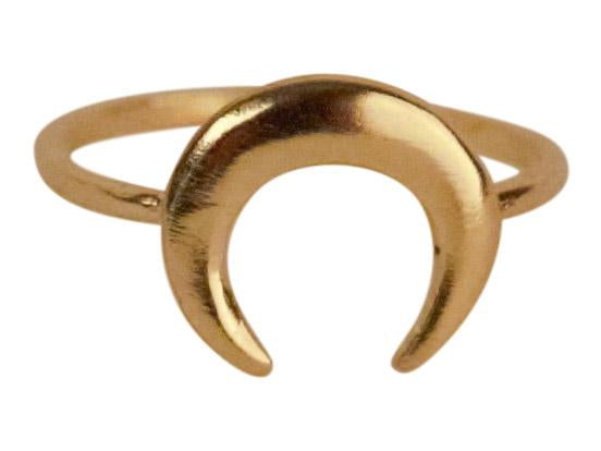 Gold Crescent Ring