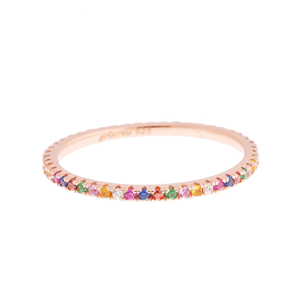 Rainbow Stack Ring : Rose Gold