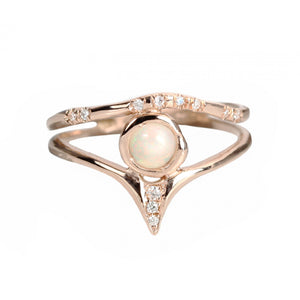Radiance Tear Ring - Rose Gold Size 6.75