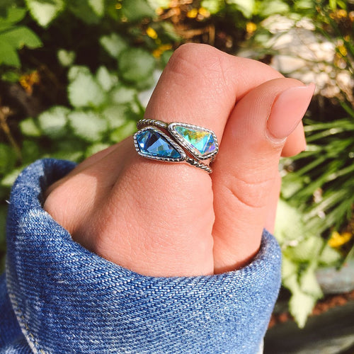 Luca and Danni Sloan Ring (Aqua)