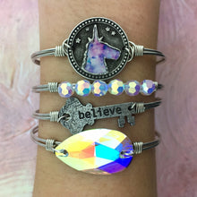 Load image into Gallery viewer, Tie Dye Unicorn Bangle Bracelet