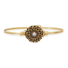 Load image into Gallery viewer, Sunflower Bangle Bracelet