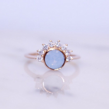 Load image into Gallery viewer, Air Blue Swarovski and Cubic Zirconia Lois Ring