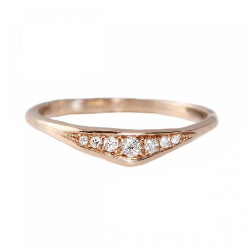 Slice Ring - Rose Gold Size 7