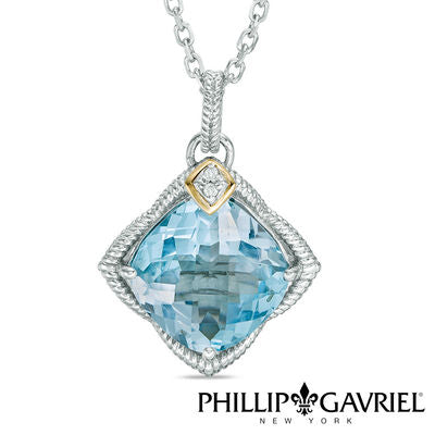 Phillip Gavriel Necklace Blue Topaz
