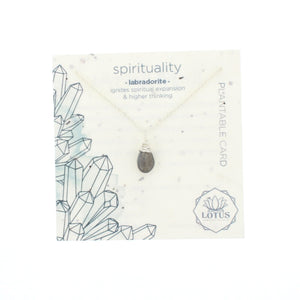 Energy Wildflower Card Necklace
