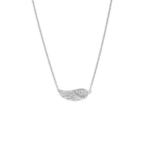 Sterling Silver Single Angel Wing Necklace
