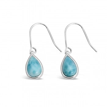 Petite Teardrop Larimar Earrings