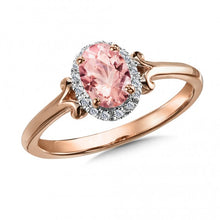 Load image into Gallery viewer, 14K Rose Gold Morganite & Diamond Ring