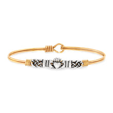 Load image into Gallery viewer, Claddagh Bangle Bracelet