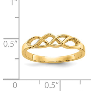 14k Free Form Knot Ring, Size 7